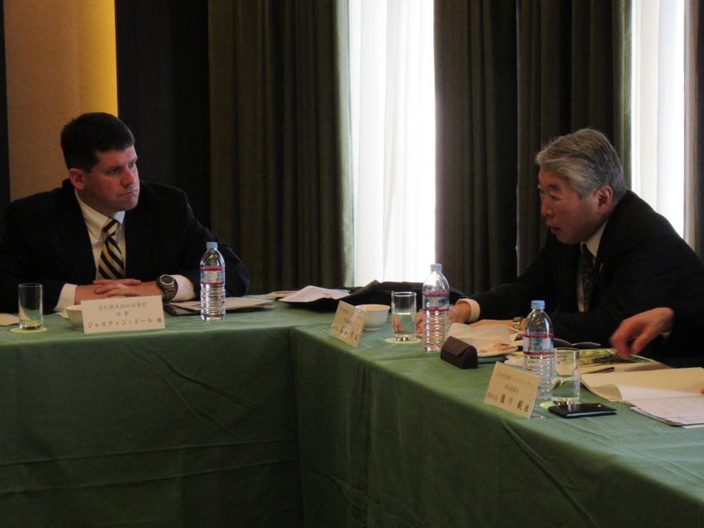 Consul Tull with Vice-Chairman Tamayama