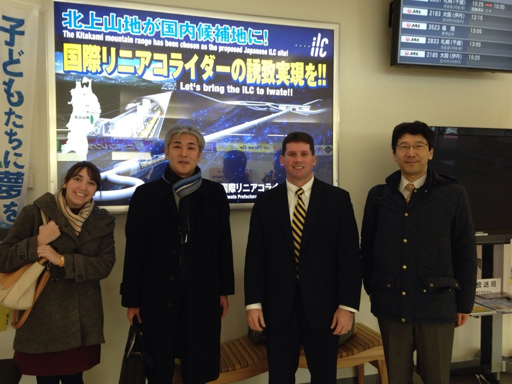 Staff with Consul Tull at the airport (Credit: US Consulate in Sapporo)