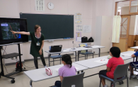 At Kuroishi Elementary School