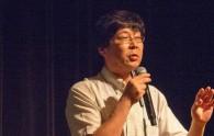 Dr. Junpei Fujimoto of KEK gives a presentation
