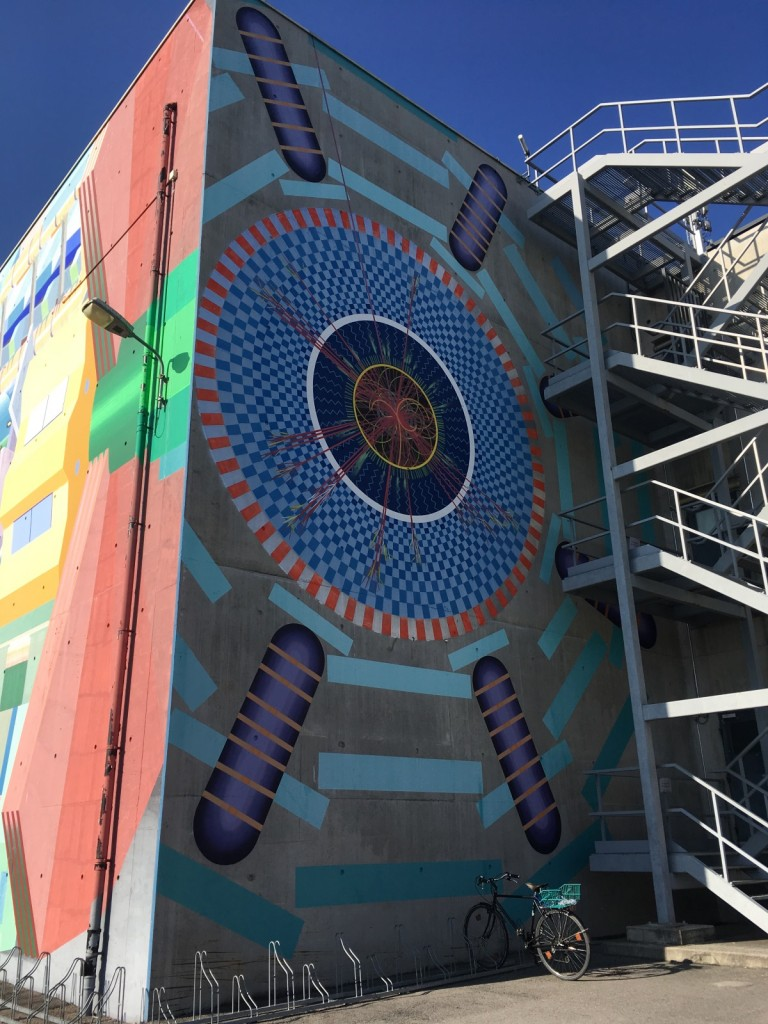 A mural of the ATLAS detector at CERN