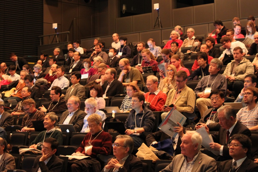 Researchers gather for the opening plenary