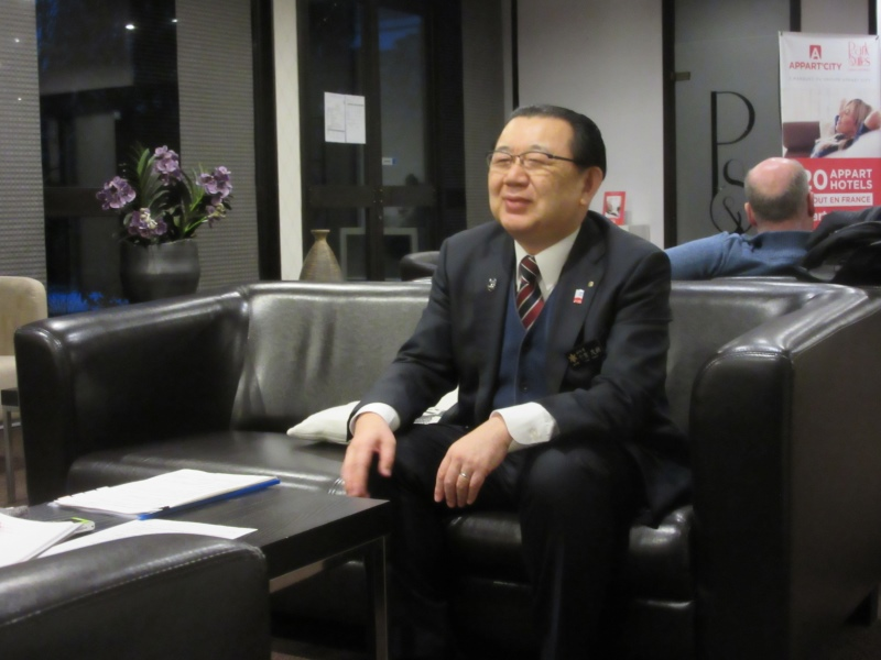Vice-governor Chiba during the interview (in Geneva)